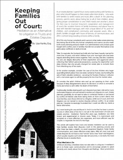 Keeping Families Out of Court Cover